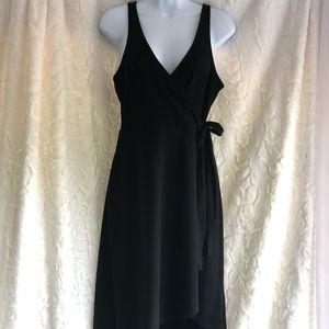 Express Black Faux Wrap Dress
